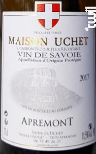Apremont - DOMAINE UCHET - 2019 - Blanc