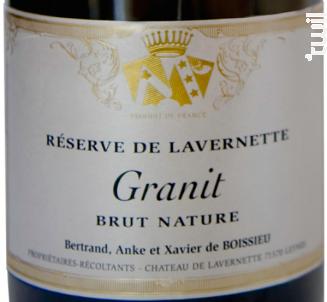 Granit - Brut Nature - Château de Lavernette - Non millésimé - Effervescent