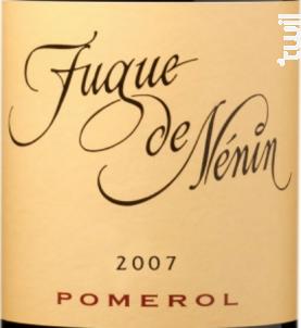 Fugue de Nénin - Château Nénin - 2007 - Rouge