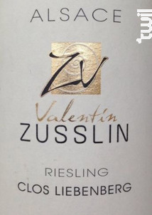 Clos Liebenberg Riesling - Valentin Zusslin & fils - 2015 - Blanc