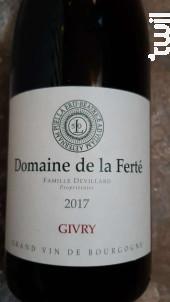Givry - Domaine de la Ferté - 2019 - Rouge