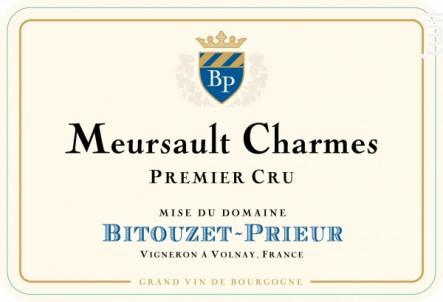 Meursault Charmes Premier Cru - Domaine Bitouzet-Prieur - 2018 - Blanc