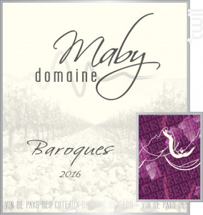 Baroques - Domaine Maby - 2016 - Rouge