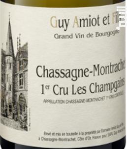 Chassagne-Montrachet  1er Cru Les Champgains - Domaine Amiot Guy et Fils - 2017 - Blanc