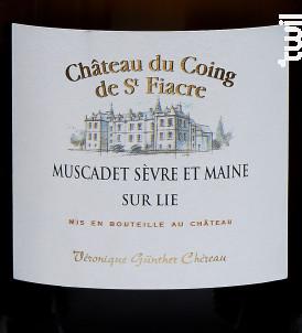 Château du Coing de Saint Fiacre - VGC Véronique Günther-Chéreau - 2018 - Blanc