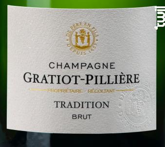 Brut Tradition - Champagne Gratiot-Pillière - Non millésimé - Effervescent