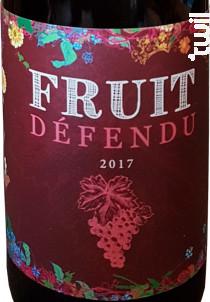 Fruit défendu - Domaine Orgâmic - 2017 - Rouge