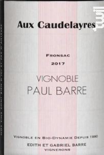 Aux Caudelayres - Vignobles Paul Barre - 2017 - Rouge
