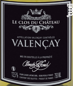 VALENÇAY - SARL CLAUDE LAFOND - 2018 - Blanc