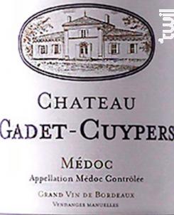 Château Gadet Cuypers - Château Gadet Cuypers - 2016 - Rouge