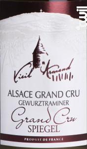 Alsace Gewurztraminer Grand Cru Spiegel - La Cave du Vieil Armand - 2016 - Blanc