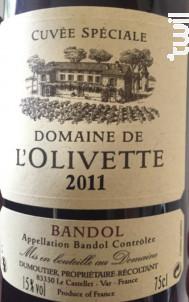 Cuvée Spéciale - Domaine de l'Olivette - 2011 - Rouge