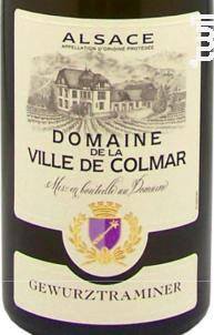 Gewurztraminer - Domaine Viticole de la ville de Colmar - 2015 - Blanc