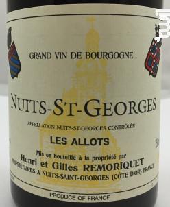 Nuits-Saint-Georges Les Allots - Domaine Remoriquet (Henri et Gilles) - 2014 - Rouge