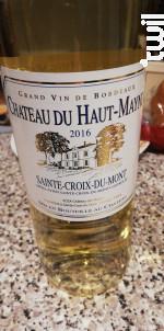 Château du Haut-Mayne - Château des Mailles - 2016 - Blanc