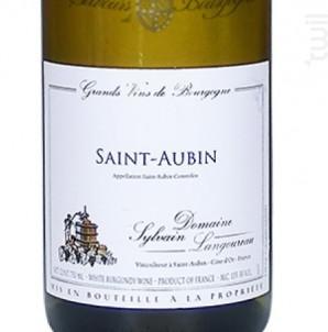SAINT AUBIN - Domaine Sylvain Langoureau - 2016 - Blanc