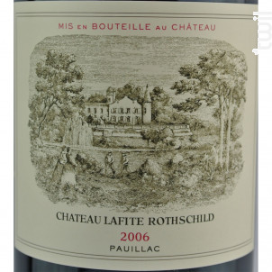Château Lafite Rothschild - Domaines Barons de Rothschild - Château Lafite Rothschild - 2006 - Rouge