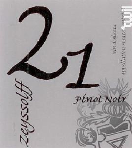 PINOT NOIR 21 - Maison Zeyssolff - 2015 - Rouge