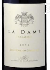 La Dame d'Armens - Château Armens - 2012 - Rouge