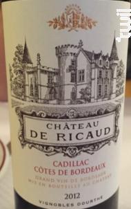 Château de Ricaud - Vignobles Dourthe - Château de Ricaud - 2013 - Rouge