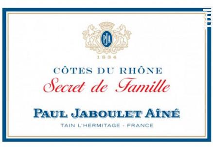 Secret de famille - Paul Jaboulet Aîné - 2015 - Rouge