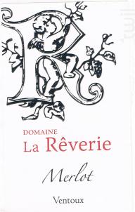 IGP MERLOT - Domaine de  la Rêverie - 2016 - Rouge