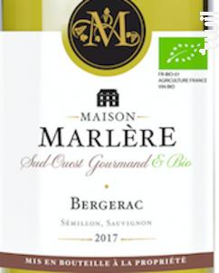 Bergerac Blanc Sec - Maison Marlère - 2020 - Blanc