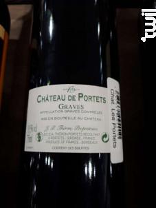 Château De Portets Classique - Château De Portets - 2018 - Rouge