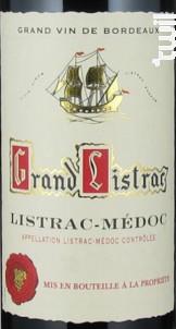 Grand Listrac - Cave Grand Listrac - 1992 - Rouge