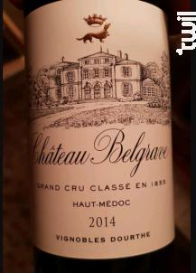 Château belgrave - Château Belgrave - 2014 - Rouge
