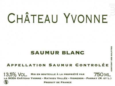 Château yvonne - Château Yvonne - 2018 - Blanc