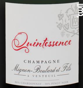 Quintessence - Champagne Mignon-Boulard et Fils - Non millésimé - Effervescent