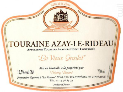 Cuvée Le Vieux Groslot - Domaine Thierry Besard - 2014 - Rosé