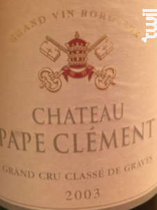 Château Pape Clément - Château Pape Clément - 2003 - Rouge