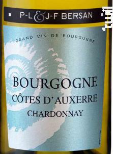 Côtes d'Auxerre Chardonnay - Domaine JF & PL Bersan - 2017 - Blanc