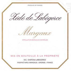 Zédé de Labégorce - Château Labégorce - 2014 - Rouge