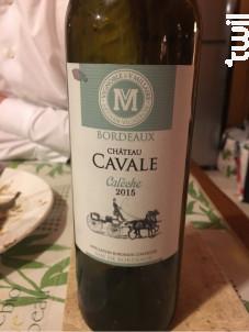 Château Cavale - Calèche - Vignoble Millaire - 2015 - Rouge