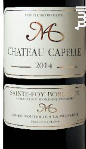 Château Capelle - Univitis - 2014 - Rouge
