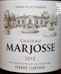 Château Marjosse - Château Marjosse - 2015 - Blanc