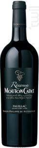 Mouton Cadet Réserve Pauillac - Baron Philippe De Rothschild - 2014 - Rouge