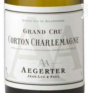 Corton-Charlemagne Grand Cru - Jean Luc et Paul Aegerter - 2013 - Blanc