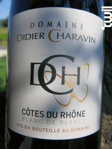 Côtes du Rhone - Domaine Didier Charavin - 2018 - Blanc