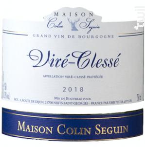 Viré-Clessé Terroir - Maison Colin Seguin - 2018 - Blanc