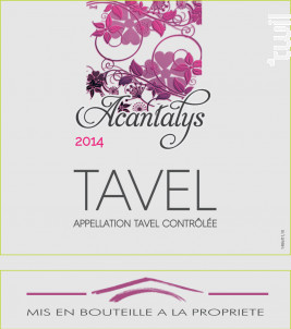 Acantalys - Grenache Noire - C - La Cave de Tavel - 2014 - Rosé