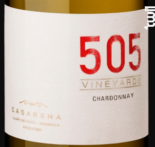 505 - CHARDONNAY - Casarena - 2018 - Blanc