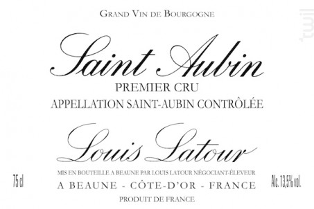 SAINT-AUBIN 1er Cru - Maison Louis Latour - 2015 - Blanc