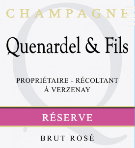Réserve Brut Rosé - Champagne Quenardel et Fils - Non millésimé - Effervescent