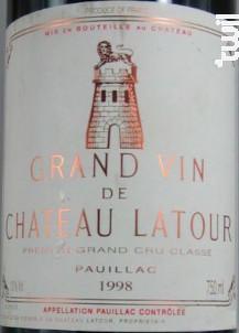 Château Latour - Château Latour - 1998 - Rouge