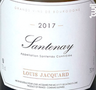 Le Chainey - Louis Jacquard - 2017 - Blanc