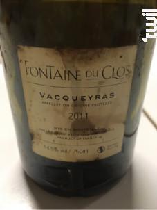 Castillon - Domaine Fontaine du clos - 2018 - Rouge